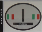 Italy Country Flag Oval Decal.